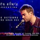 Confirmado: Damon Albarn en Argentina