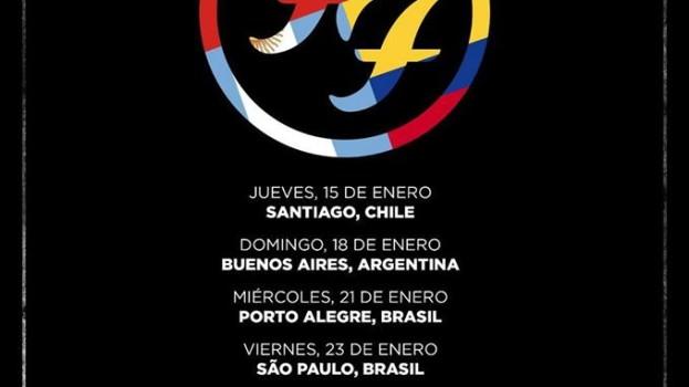 Foo Fighters confirma regreso a Sudamérica
