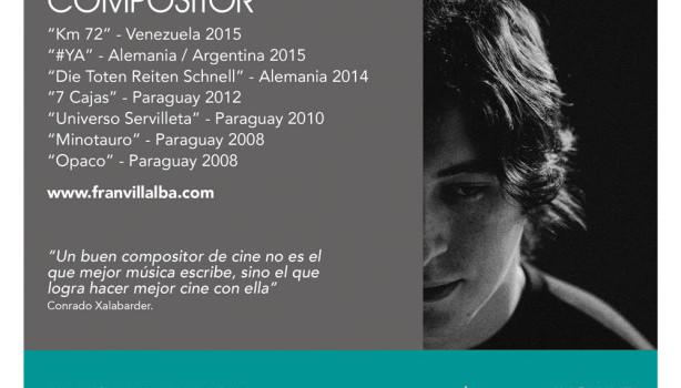 Fran Villalba organiza taller de introducción a la música original de cine y publicidad