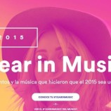 Spotify te muestra cuál fue tu soundtrack del 2015