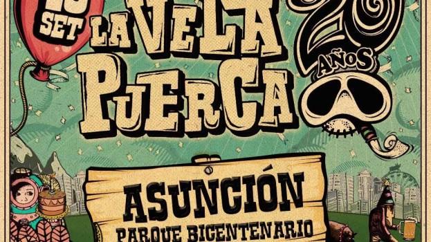 Anotá! 10 de sep; La Vela Puerca en Paraguay