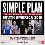 Simple Plan dará show en Paraguay en diciembre