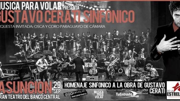 "Show ""Cerati Sinfónico"" llega a Paraguay este viernes"
